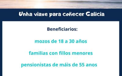 """PROGRAMA DE VIAXES SUBVENCIONADAS POLA XUNTA DE GALICIA, """"ELIXE GALICIA 2021""""."""